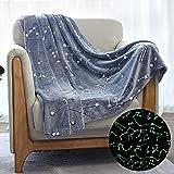 Microfiber Polyester Throw Blanket by Kanguru-50x60inches-Luminous Constellation Blanket- Glow in the Dark-For All Seasons