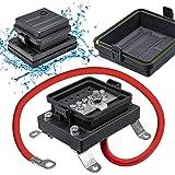 Waterproof Ground Power Distribution Terminal Block Battery Bus Bar [Max. 300V AC/48V DC] [IP65] [Positive/Negative] Insulate