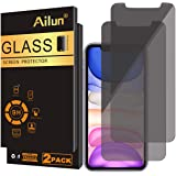 Ailun Privacy Screen Protector Compatible iPhone XR 6.1Inch 2018 Release 2 Pack Japanese Glass 0.25mm Anti Spy Tempered Glass