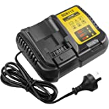 DCB112 12V -20V Replacement Li-ion Battery Charger Compatible for Dewalt DCB206 DCB205 DCB204 DCB203 DCB201 DCB120 DCB127, Re