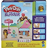 Play-Doh Builder Ice Cream Stand Toy Building Kit for Kids 5 Years and Up with 8 Cans of Non-Toxic Modeling Compound - Easy t