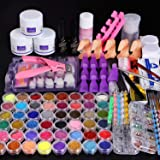 Cooserry 115 In 1 Acrylic Nail Kit - 48 Colors of Glitter Acrylic Powder And Liquid Set for Nails Professional Set - 5 Pcs Ac