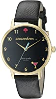"""kate spade new york Women's KSW1039 Metro""""Somewhere"""" Watch with Leather Band"""