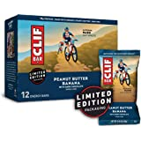 CLIF BARS - Energy Bars - Peanut Butter Banana with Dark Chocolate - Made with Organic Oats - Plant Based Food - Vegetarian -