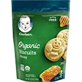 Gerber Graduates Organic Gluten Free Biscuits, Honey, 5.29 oz