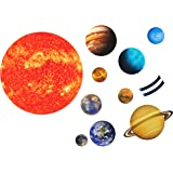 SpriteGru Giant Magnetic Solar System with 12 Individual Briefing Magnets.Perfect for Toddlers and Kids. (24 PCS)