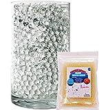 SooperBeads 20,000 Vase Filler Beads Gems Water Growing Crystal Clear Translucent Gel Pearls For Vases, Wedding Centerpiece,