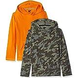 Spotted Zebra Boys BSZ45088FL18 Boy's 2-Pack Hooded Jersey Long Sleeve T-Shirt Long Sleeve Skate Shirt - Multi
