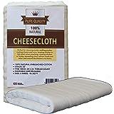 チーズクロス – 無漂白グレード50の天然コットンクロス – 食品の調理、チーズ作り、ナッツミルクを絞ったり、七面鳥を焼いたりするのに最適 – 5平方ヤード – 洗濯可能で再利用可能なストレーナー