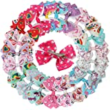 XIMA 3.5inch Unicorn Hair Bows Clips For Baby Girls Children Women Grosgrain Ribbon Bows With Alligator Clips for Hair Access