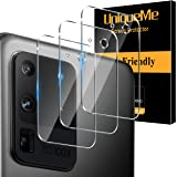 [ 3 Pack] UniqueMe Camera Lens Protector for Samsung Galaxy S20 Ultra Screen Protector Tempered Glass [Ultra-Thin] Case Frien