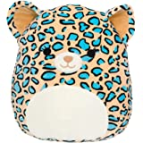 """Squishmallow Official Kellytoy Plush 12"""" Liv The Teal Leopard - Ultrasoft Stuffed Animal Plush Toy"""