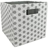 DII Foldable Fabric Storage Container for Nurseries, Offices, Closets, Home Décor, Cube Organizer & Everyday Use, 11 x 11 x 1