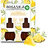 Botanica by Air Wick Plug in Scented Oil Refill, Fresh Pineapple and Tunisian Rosemary, Air Freshener, Essential Oils, (2 Cou