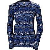 Helly Hansen Women's W Merino Wool Mid Graphic Long-Sleeve Baselayer Top