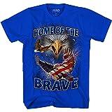 Mad Engine God Bless America Men's USA Flag Eagle Home of The Brave T-Shirt