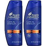 Head and Shoulders Clinical Strength Dandruff and Seborrheic Dermatitis Shampoo, 23.7 fl oz Twin Pack