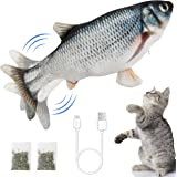 Ozoosh Pets Electric Flopping Fish Cat Toy Interactive Cat Toys Dog Toy Catnip Toy Chew Toys Floppy Fish Cat Kicker Toy for C