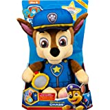 Paw Patrol 6042019 Snuggle Up Chase Plush with Flashlight and Sounds, for Kids Aged 3 and Up