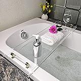 防水性防カビ性透明アクリル バスタブトレイ - 入浴トレイバスタブキャディバスは読書シェルフSPAバスタブ表浴室バスタブパーティションバスタブボードグラスラックラック (Size : 78.8cm) (clear)