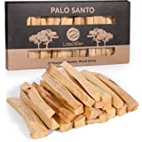 LotsOfZen Natural Palo Santo Smudging Sticks, 20 Per Box, Real Holy Wood Incense Sticks, Spiritual Tools for Cleansing, Ritua