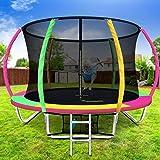 Everfit Trampoline for Kid 8FT Big Rebounder w/Ladder Enclosure Safety Net Pad Outdoor Bouncing Children 120KG Capacity