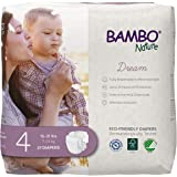 Bambo Nature Premium Eco-Friendly Baby Diapers, Size 4, (15-31 Lbs), 162 Count, (6 Packs of 27)
