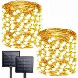 Albelt 2-Pack Each 72ft 200 LED Solar Lights Outdoor String (Ultra-Bright & Extra-Long), Upgraded Solar Christmas Lights, IP6