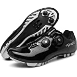 BETOOSEN Breathable Road Bike Cycling Shoes MTB Spin Bicycle Shoes Mens Womens with Quick lace Self-Locking Compatible SPD Cl