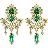 EleQueen Women's Austrian Crystal Art Deco Chandelier Bridal Teardrop Earrings