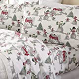 Home Fashion Designs Stratton Collection Extra Soft Printed 100% Turkish Cotton Flannel Sheet Set. Warm, Cozy, Lightweight, L