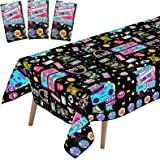 WOXIN 3 Pieces Back to 90's Party Tablecloth, 1990s Hip Hop Party Birthday Table Cover for 90s Hip Hop Theme Party Decoration