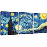 "Canvas Wall Art Lake Beach Colorful Stones Under Sunset Canvas Art 12"" x 16"" x 3 Panels Landscape Canvas Prints Artwork Frame"