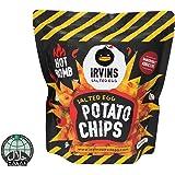 IRVINS Salted Egg Hot Boom Potato Chips, 105g