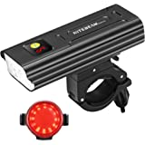 NITEBEAM BR05 5,000 Lumens USB-C Rechargeable Bike Headlight & Taillight Set.