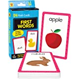 Carson Dellosa First Words Flash Cards—Double-Sided, Common Words With Illustrations, Basic Animals, Food, Objects, Phonics a
