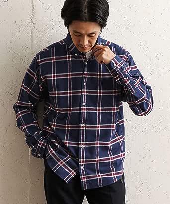 [アーバンリサーチ ドアーズ] ワイシャツ ネルチェックボタンダウンシャツ メンズ
