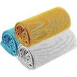 【2020 新型竹繊維 超冷感タオル 3枚セット】 UVカット 熱中症対策 瞬冷タオル 冷却タオル 暑さ対策 クール 超…