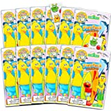 Sesame Street Ultimate Party Favors for Toddlers Kids Bundle -- 12 Sets with Stickers, Coloring Books, Crayons, and Bonus Sti