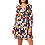 Replay Women's W9660 Dress, 010 Black/Multicolour