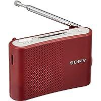 ソニー FM/AMハンディーポータブルラジオ レッド ICF-51/R