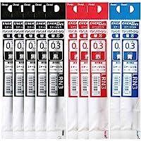 ぺんてる ボールペン替芯セット XLRN3 0.3mm 黒5本 赤3本 青2本 AMZ-LRN3-10