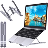 STOON Laptop Stand, Portable Laptop Stand for Desk, 6-Levels Adjustable Ventilated Cooling Computer Notebook Stand Riser, Com