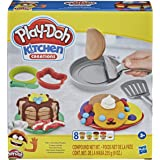 Play-Doh - Kitchen Creations Flip 'n Pancakes - 14-Piece Breakfast Playset for Boys and Girls, with 8 Non-Toxic Tubs of Model