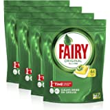 Fairy Fairy All in One Lemon Dishwasher Tablets 44 Capsules x4, 4 count, Pack of 4