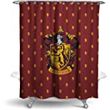 Robe Factory Harry Potter Gryffindor Shower Curtain House Bathroom Decor with Hook Rings