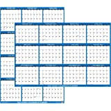 """18"""" x 24"""" SwiftGlimpse 2022 Wall Calendar Erasable Large Wet & Dry Erase Laminated 12 Month Annual Yearly Wall Planner, Rever"""