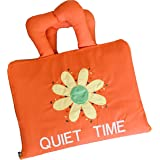Naveeti Quiet Book with Orange Cover Bundled with Australian Animal Finger Puppet - Early Learning Educational Quiet Book for