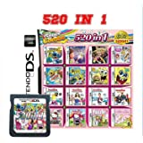 520 in 1 Game Cartridge Multicart, Game Pack Card Super Combo For Nintendo DS/NDS/NDSL/NDSi/3DS/2DS XL/LL