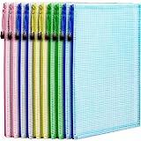 10 Pack A4 Zipper Pouch File Bag, LEOBRO Durable Plastic Envelope File Folder, Document Folder, for Document, Stationery, Toy